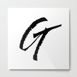 Letter G Ink Monogram Metal Print