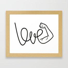 Love Is The Power Framed Art Print