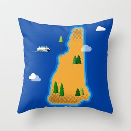 New Hampshire Island Throw Pillow