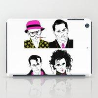 johnny depp iPad Cases featuring Johnny Depp Chameleon by Lizz Buma