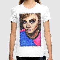 cara delevingne T-shirts featuring Cara Delevingne:) by vooce & kat