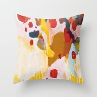 history Throw Pillows featuring History Lesson by Emily Rickard