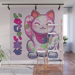 Maneki Neko Cotton (Bare Version) Wall Mural