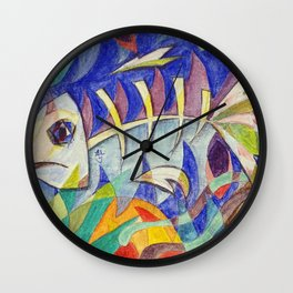 Swim Fishy Swim Wall Clock
