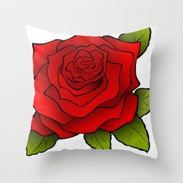 Cartoon Beautiful Rose Throw Pillow