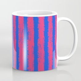 pink no blue bounding stripes 2 Coffee Mug
