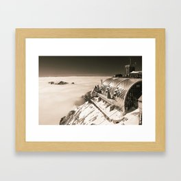 A place in the clouds Framed Art Print
