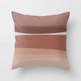 Modern Blush, Pink Painting, Pink Ombre Throw Pillow