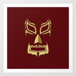 Luchador Mask Bad Guy Art Print