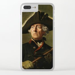 Frederick the Great Painting Clear iPhone Case