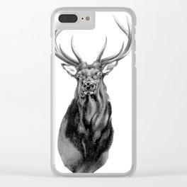 Bull Elk Encounter Clear iPhone Case