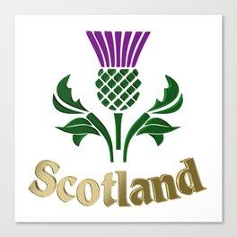 Scottish emblem thistle Canvas Print