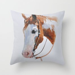 Western Horse Throw Pillow
