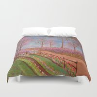 oz Duvet Covers featuring The Land of Oz by Mary Frankenfield