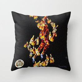 Vintage 1920's Leonetto Cappiello  IsolaBella Lithograph Advertising Wall Art Style 4 yellow text Throw Pillow