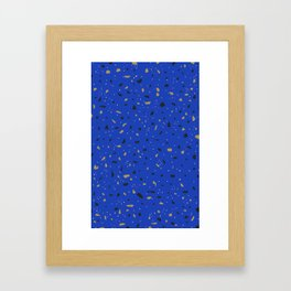 Granite (blue) Framed Art Print