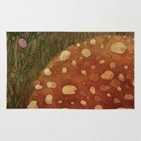 mushroom Area & Throw Rugs featuring mushroom by rysunki-malunki