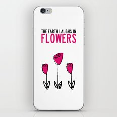 The earth laughs in flowers. iPhone & iPod Skin