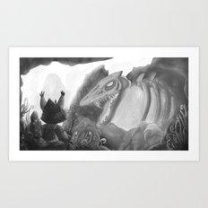 The Demon of Cat Mountain Art Print