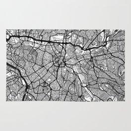 Sao Paulo Map Gray Rug