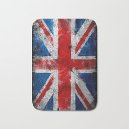 Great Britain grunge flag Bath Mat