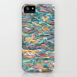 Lotus Flower Mega Circuit Series: Clouds (Detail) iPhone Case