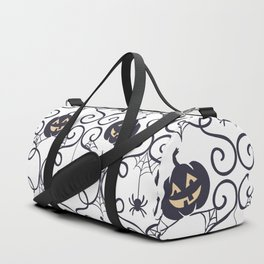 happy hallowen curves and pumkins pattern Duffle Bag