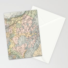 Vintage Map of Canada (1892) Stationery Cards