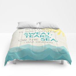 salt water cure Comforters