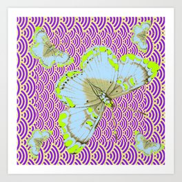 CHARTREUSE-WHITE EXOTIC BUTTERFLY Art Print