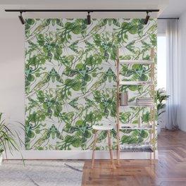 Evergreen Hawk Moth, Seaweed, Algae, and Orchids Wall Mural
