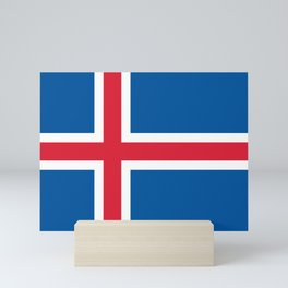 Flag of Iceland Mini Art Print