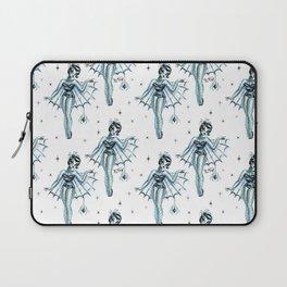 Black Widow Burlesque Doll Laptop Sleeve