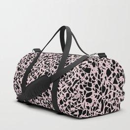 Terrazzo Spots Black on Blush Repeat Duffle Bag