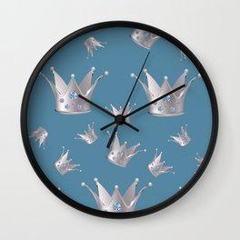 Silver crown Wall Clock