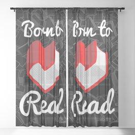 Born to Read Sheer Curtain