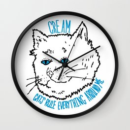 Cats Rule Everything Wall Clock