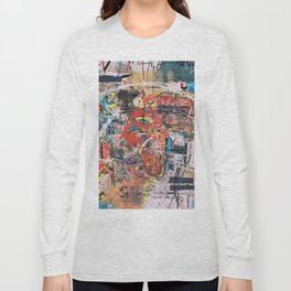 World Mapsqiuat Long Sleeve T-shirt