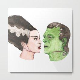 Frankenstein & Bride Metal Print
