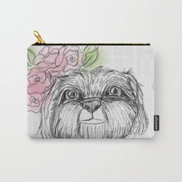 Girly Shih Tzu Carry-All Pouch