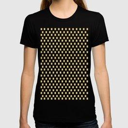 Gold Metallic Squares T-shirt
