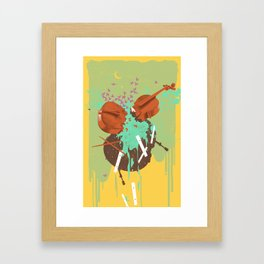 BUSTED MUSIC Framed Art Print