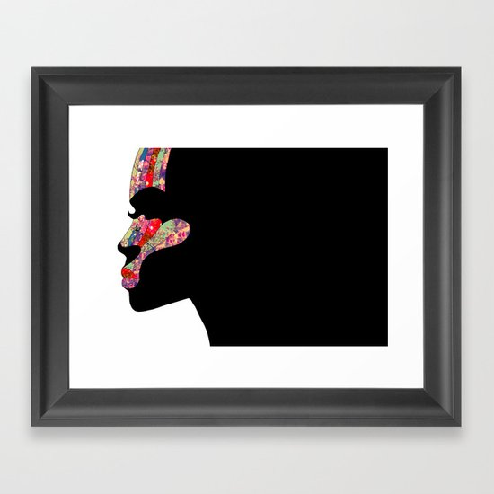 EL PERFIL Framed Art Print