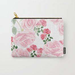 pink rose patterns Carry-All Pouch