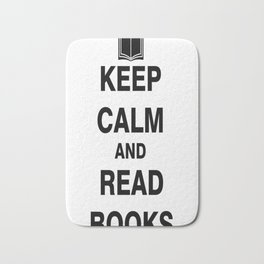 Keep Calm and Read Books Bath Mat