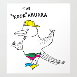 "The ""Kook""aburra Art Print"