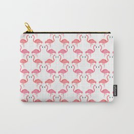 Pink Flamingos on Parade // Collaboration with Brianne Burnell Carry-All Pouch