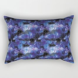 galaxy in pixel art blue Rectangular Pillow