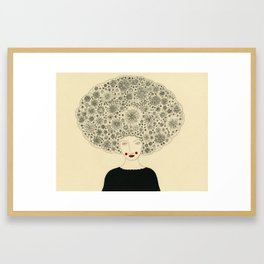 Afloral Framed Art Print