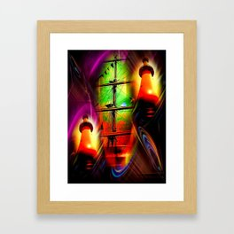 Lighthouse romance 2 Framed Art Print